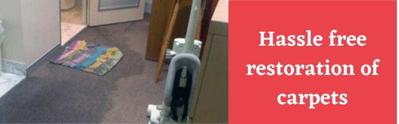 Hassle free restoration of carpets